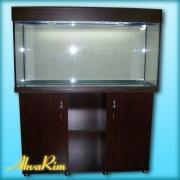 Продается классический аквариум 200 л + крышка (30 ВТ + 30 ВТ,  Т-8) + тумба.