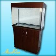 Продается аквариум 120 л + крышка (18 ВТ + 18 ВТ, Т-8) + тумба.